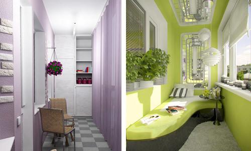 Лоджию и балкон можно обустроить в виде комнаты отдыха.