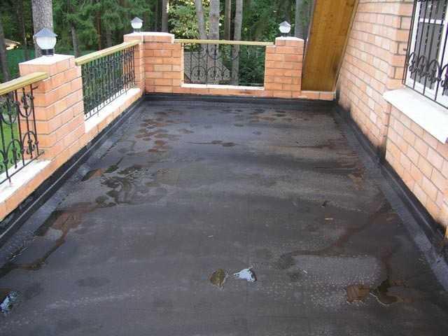 Гидроизоляция открытого балкона
