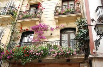 Озеленение балкона в европейском стиле