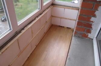 Кладка пеноблоков на балконе