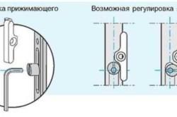 Как отрегулировать прижимной механизм балконной двери