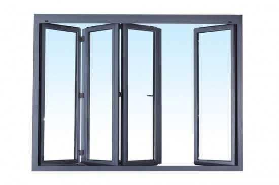 Большое алюминиевое окно