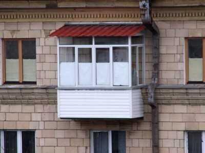 Водосток на балконе