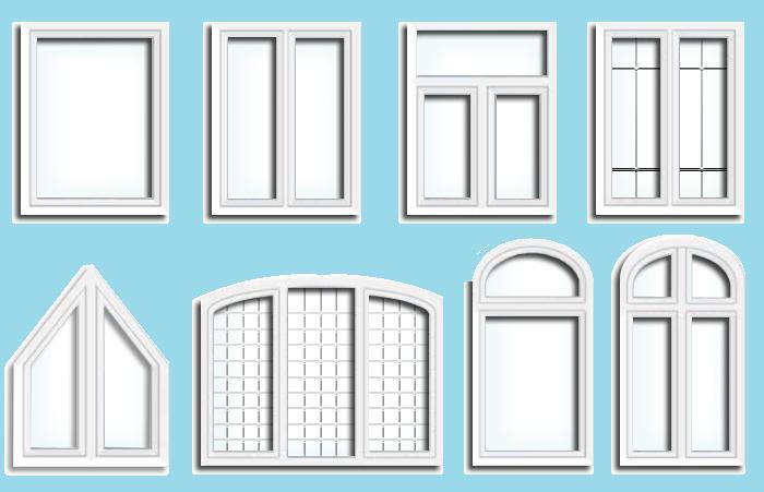 Оконные блоки могут быть выполнены как в виде отдельных элементов, так и в виде комбинации элементов, составляющих витражи.