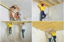 Процесс утепления потолка минеральной ватой в квартире
