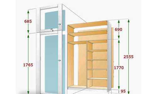 Схема балконного шкафа