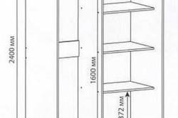 Схема шкафа-купе на балкон