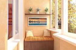Окрашеные стены балкона