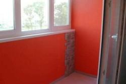 Окраска стен лоджии