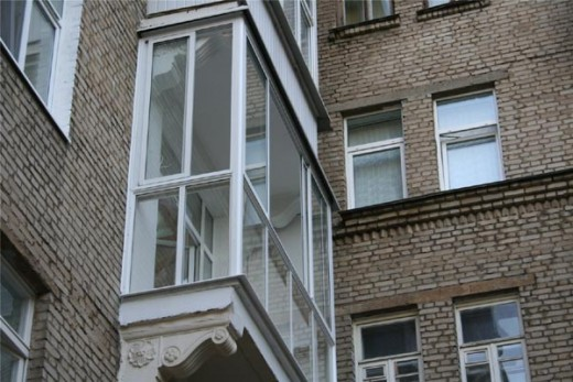 французский балкон снаружи