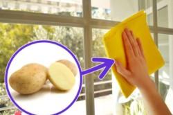 обработка окон срезом картошки