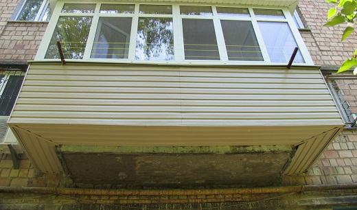 пример расширения балконной поиты